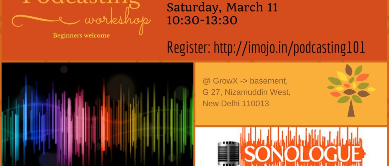 20170311 Delhi Podcasting 101 poster