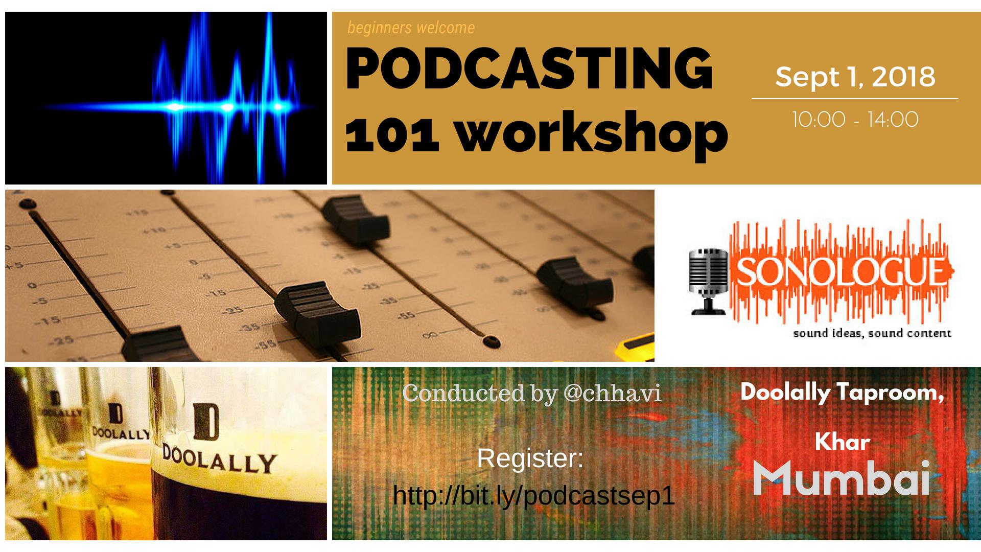 Podcasting 101 in Delhi, Nov 18