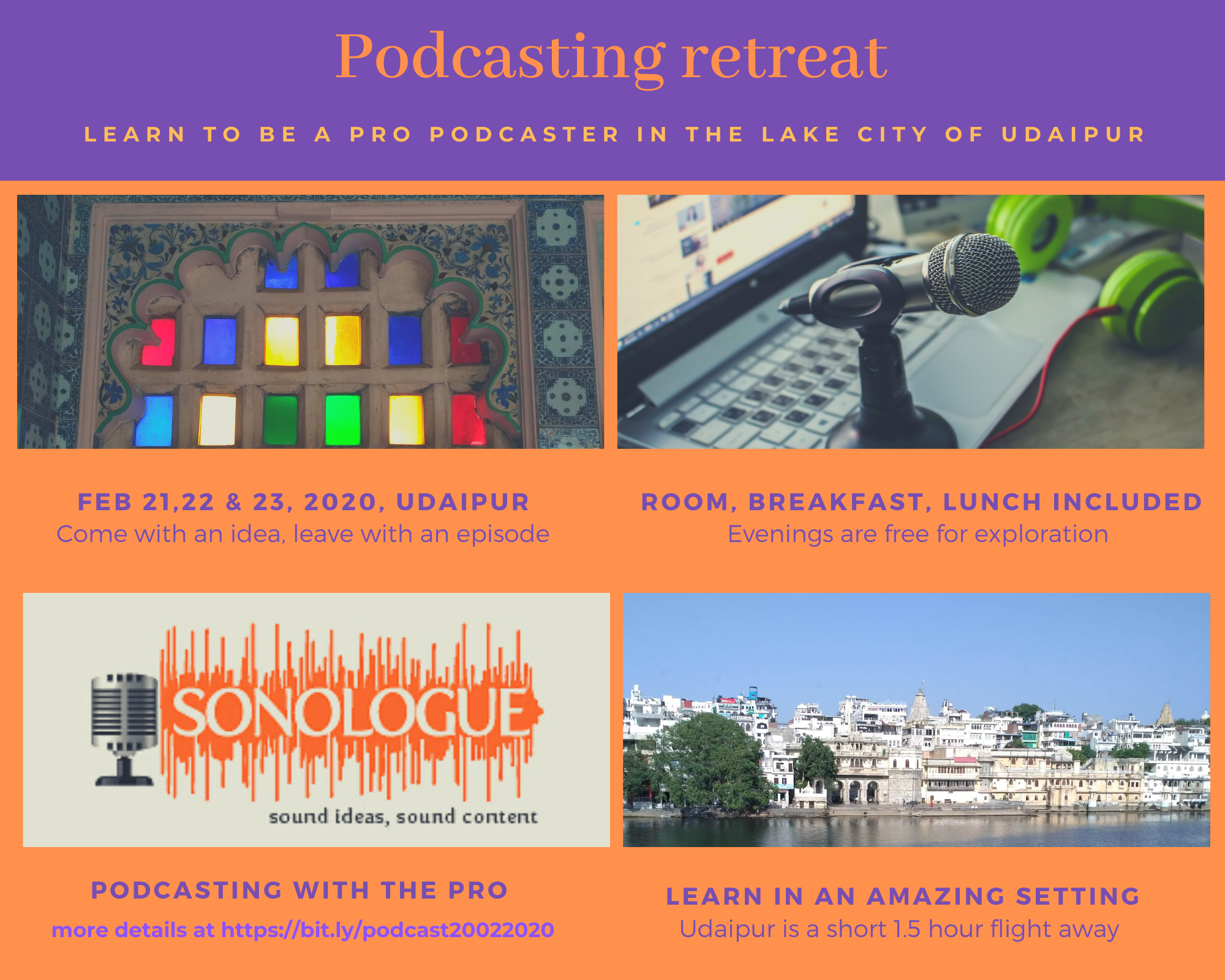 Podcasting Retreat with Sonologue in Udaipur
